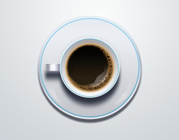 دانلود آیکون PSD فنجان قهوه