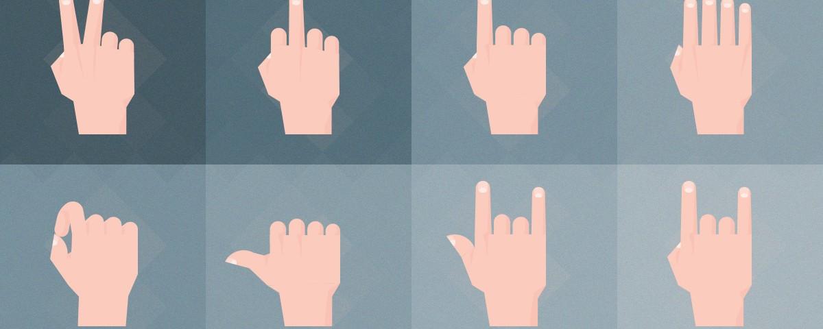 دانلود مجموعه حرکات دست در حالت های مختلف