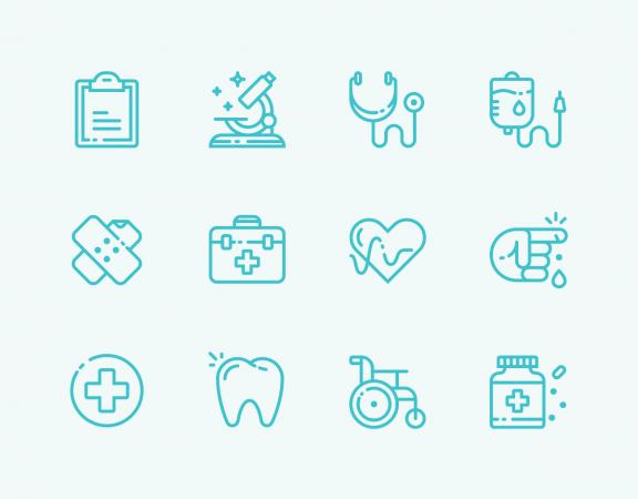 مجموعه جدید آیکون های پزشکی