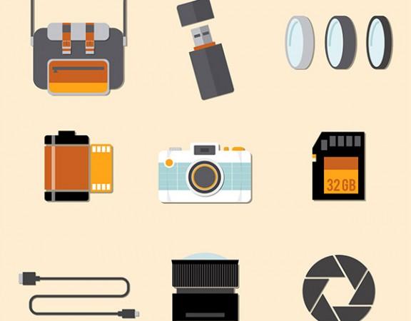 مجموعه عناصر فلت تجهیزات دوربین