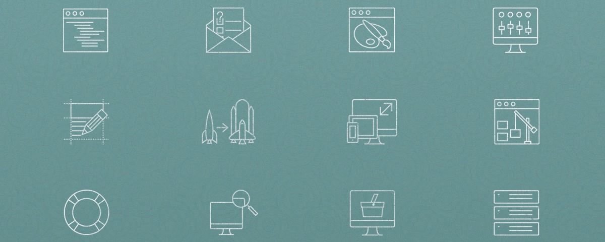 آیکون های فلت با موضوع طراحی وب