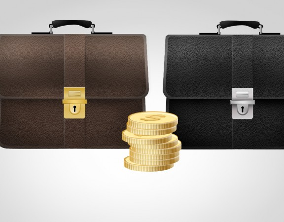 Bag and Coins Finance Icons-banner724.ir_